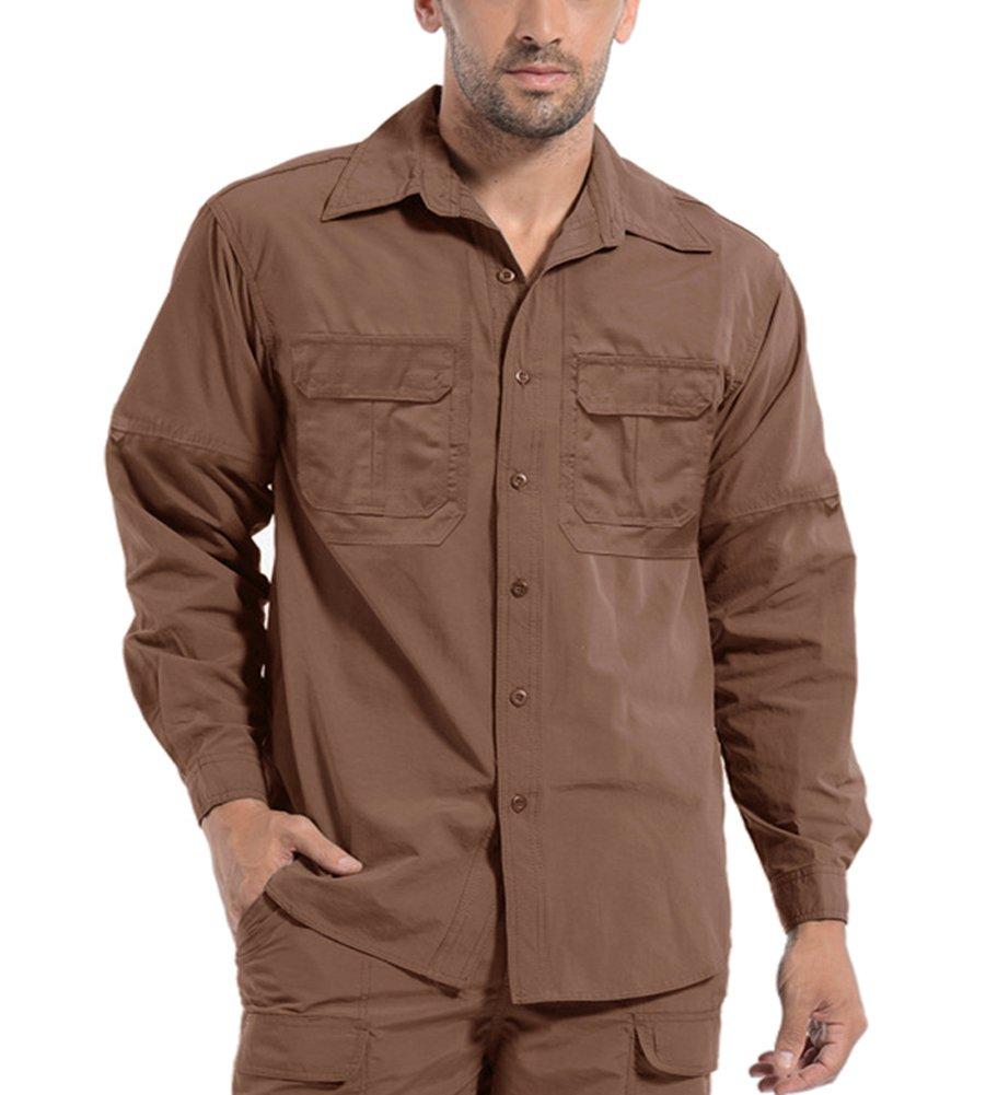 KEFITEVD Mens Quick Dry Shirt Shirts Outdoor Breathable Climbing Long Sleeve T Shirt