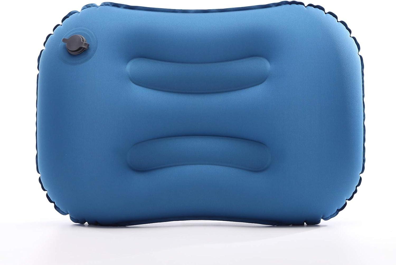 Almohada Inflable Ultraligera Viaje NALCY Almohada Inflable Almohada Hinchable Azul Hinchable Pillow para Camping Compresible Exterior Plegable Almohada de Viaje Inflable