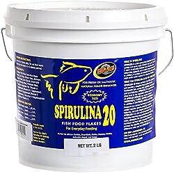 Zoo Med Spirulina 20 Fish Food Flakes 2lbs