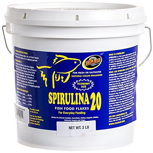Zoo Med Spirulina 20 Fish Food Flakes 2lbs