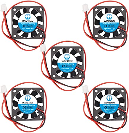 4x Fan 12v 0,1a 3,5x3,5 cm for Projects Arduino one 2pin Heatsinks