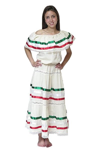 Amazoncom Mexican Clothing Co Vestido De Fiesta Mexicana
