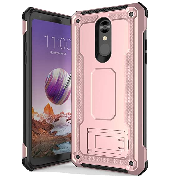 Anccer Armor Series for LG Stylo 4 Case with Kickstand Anti Shock Dual  Layer Anti Fingerprint Protective Cover for LG Stylo 4 (Rose Gold)