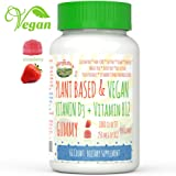 VEGAN VITAMIN D3 + B12 Gummy (Plant Based) by MaryRuth - From Organic Wild Lichen Paleo Friendly VEGAN Non-GMO Gluten Free for Men, Women & Kids! 1000 IU (1-2 Month Supply) (60 Count (Vegan D3 + B12))