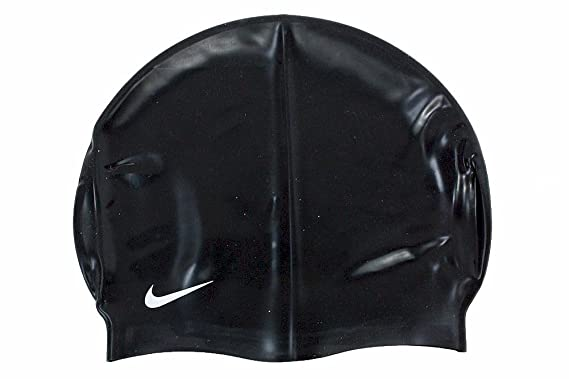 a6316d35e6d Amazon.com  Nike Solid Silicone Swim Cap (Black)  Clothing