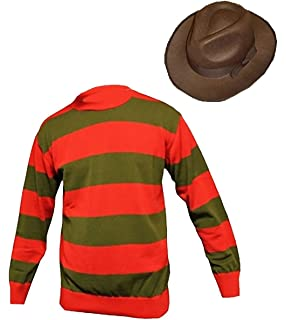 Freddy killer Costume With Claw Women/'S Halloween Fancy Dress Costumes