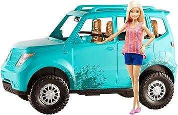 nice shoes famous brand official site Barbie Voiture tout-terrain, véhicule 4 places turquoise ...
