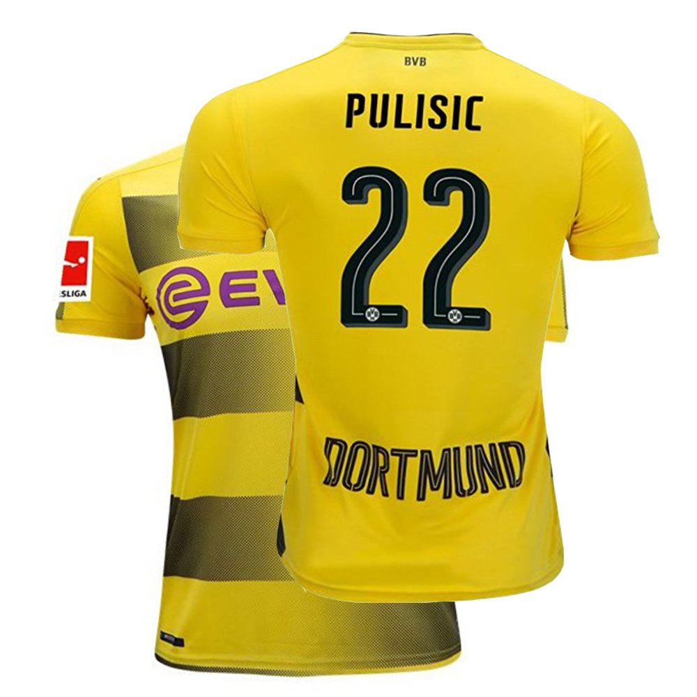 san francisco c0459 a98d2 Fcdraon Mens Pulisic Jersey 2017/18 Borussia Dortmund Christian 22 BVB Home  Adult Soccer Yellow