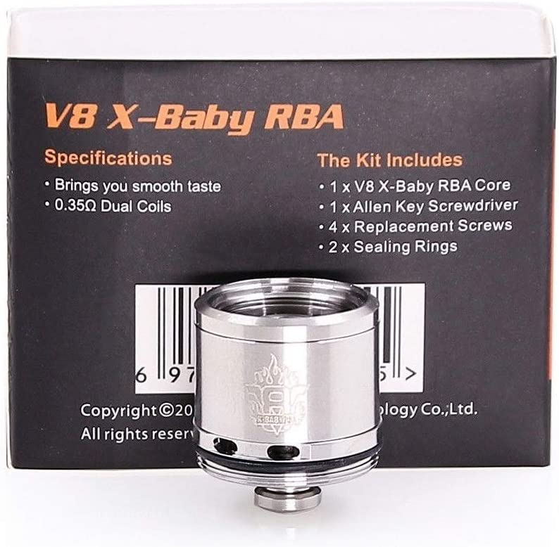 Smok Tfv8 X Baby Rba Coil 0 35 Ohm Use For V8 X Baby Tank Only Replacement Head By Smoktech No Nicotine No Tobacco Amazon Co Uk Health Personal Care