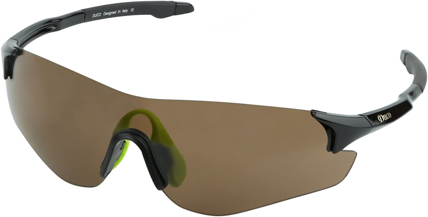 DUCO Cycling Glasses Sports Sunglasses for Men TR90 Frame UV400 Protection Lens 0029