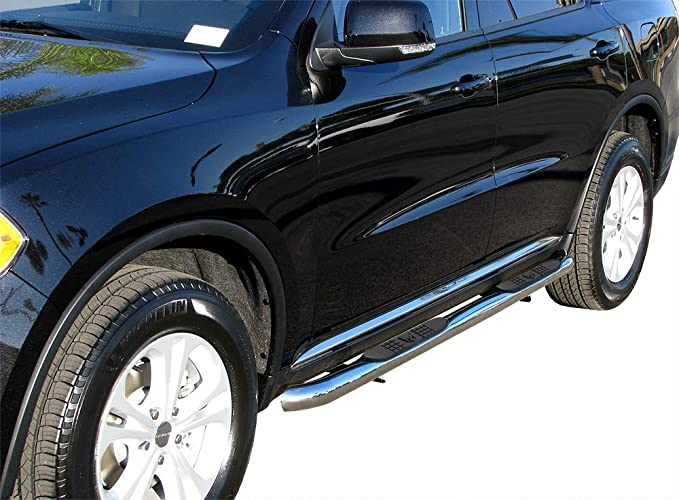 VANGUARD VGSSB-1247SS For Dodge Durango 2011-2019 Step Nerf Bar Stainless Steel 3 inch Round Side Steps
