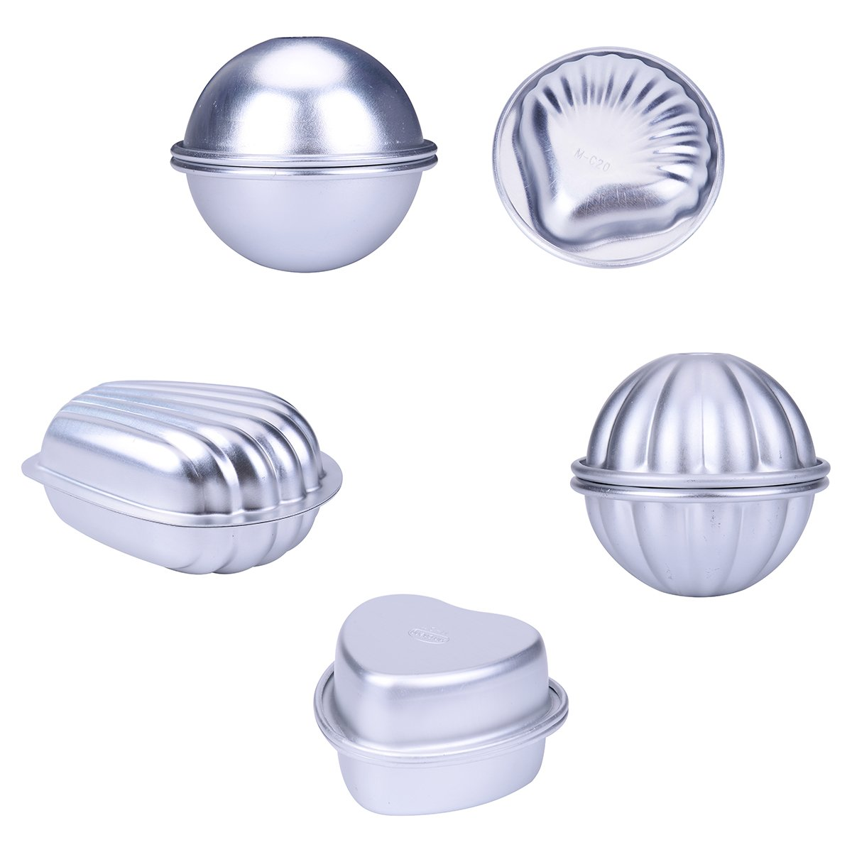 BS DIY Metal Bath Bomb Molds, Bath Bomb Making Kits 8 Pieces, Mini Sealer for Cake Making, Handmade Soaps and Crafts