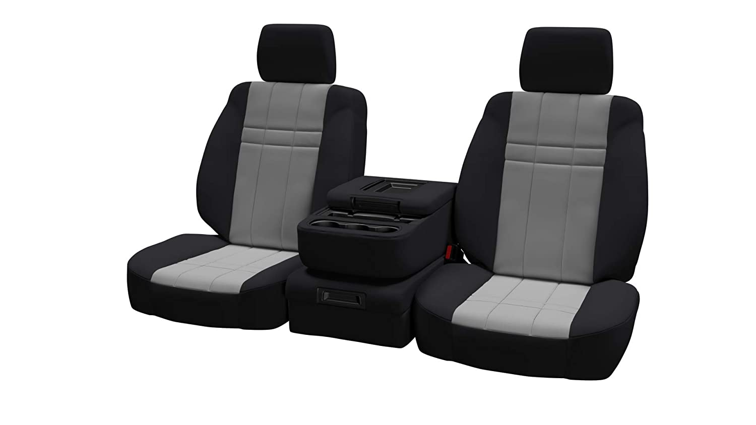 Front Seats 2015-2018 in Black w//Blue for 40//20//40 w//Folddown 3 Cup Console and Adjustable Headrests ShearComfort Custom Neoprene-Style Seat Covers for GMC Sierra