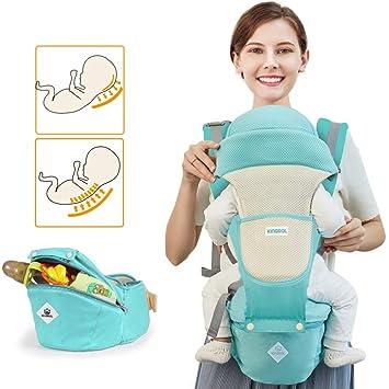 Amazon.com: Portabebés suave con asiento de cadera, 360 ...