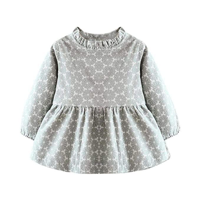 Amazon.com: Vestido de princesa de manga larga para bebés y ...