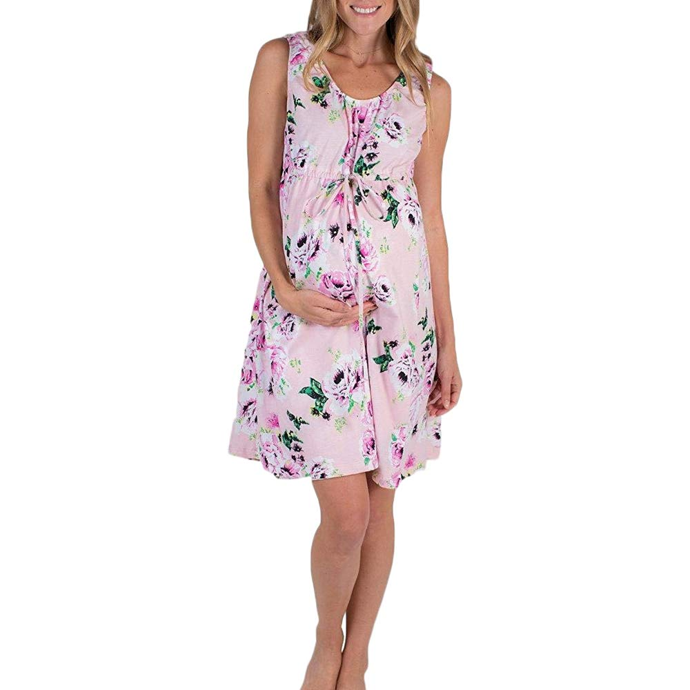 b449207507 FULA-bao 3 in 1 Maternity Labor Delivery Hospital Gown Nightgown Floral  Print Nursing Breastfeeding Tank Dress Sleepshirts at Amazon Women s  Clothing store