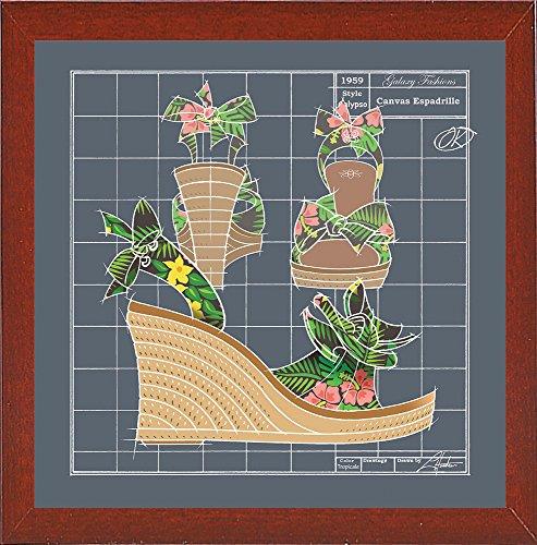 Frame USA Galaxy Shoes - Espadrille Tropicale Black-LARHUN129588 Print 16
