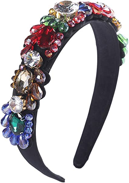 UK Women Sponge Coloured Diamond Hairbands Hair Accessories Girls Hair Hoop