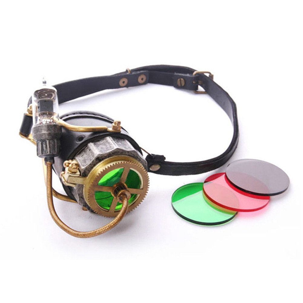 JACKDAINE Steampunk Retro Goggles Halloween Cosplay Party Props