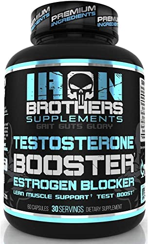 Testosterone Booster for Men with Estrogen Blocker – Anti Estrogen Dietary Supplements – Indole – 3 – Carbibole Tribulus Terresttris – Pack of 60 caps – Boost Muscle Growth Fat Loss 1 Bottle