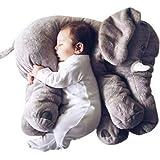 Minetom Bambini Neonati Cuscino Sacco a Pelo Cute Elefante Peluche Pillow Cuscini Comfort Morbido Giocattolo Regali per Bambini