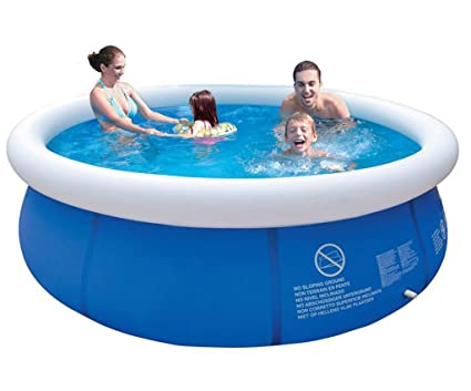 474a511c999 Image Unavailable. Image not available for. Color  LJQ Summer Inflatable  Swimming Pool PVC Water Sports Baby Kids Family Garden Play Pools Big  Portable