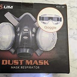 Máscara Respiratoria NASUM, Máscara Antipolvo, Fácil de Respirar ...