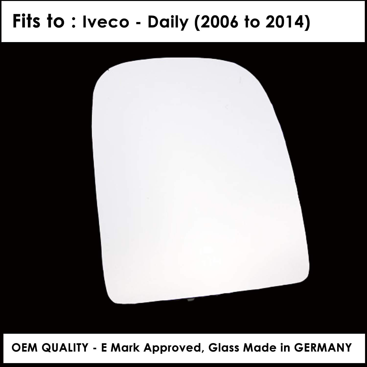 Daily Year 2006 To 2014 Right Hand Side Door Mirror Glass Convex For IVCO