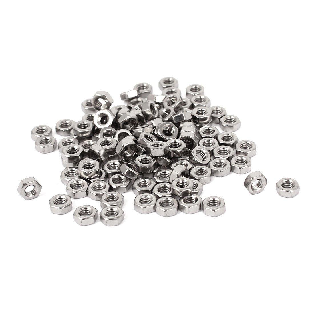 Sujetador perno - SODIAL(R) Sujetador de acero inoxidable 304 tuercas hexagonales M4 metricos DIN934 100pzs para perno