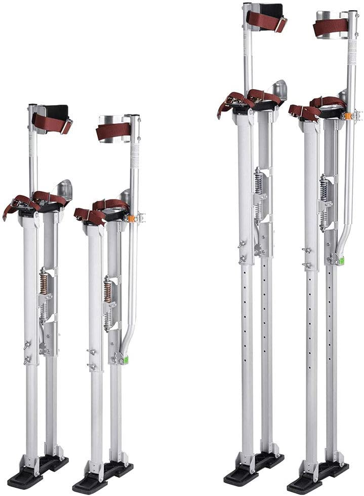 Yescom 36-50 Aluminum Drywall Stilts Height Adjustable Lifts Tool for Sheetrock Painting Painter Taping Silver