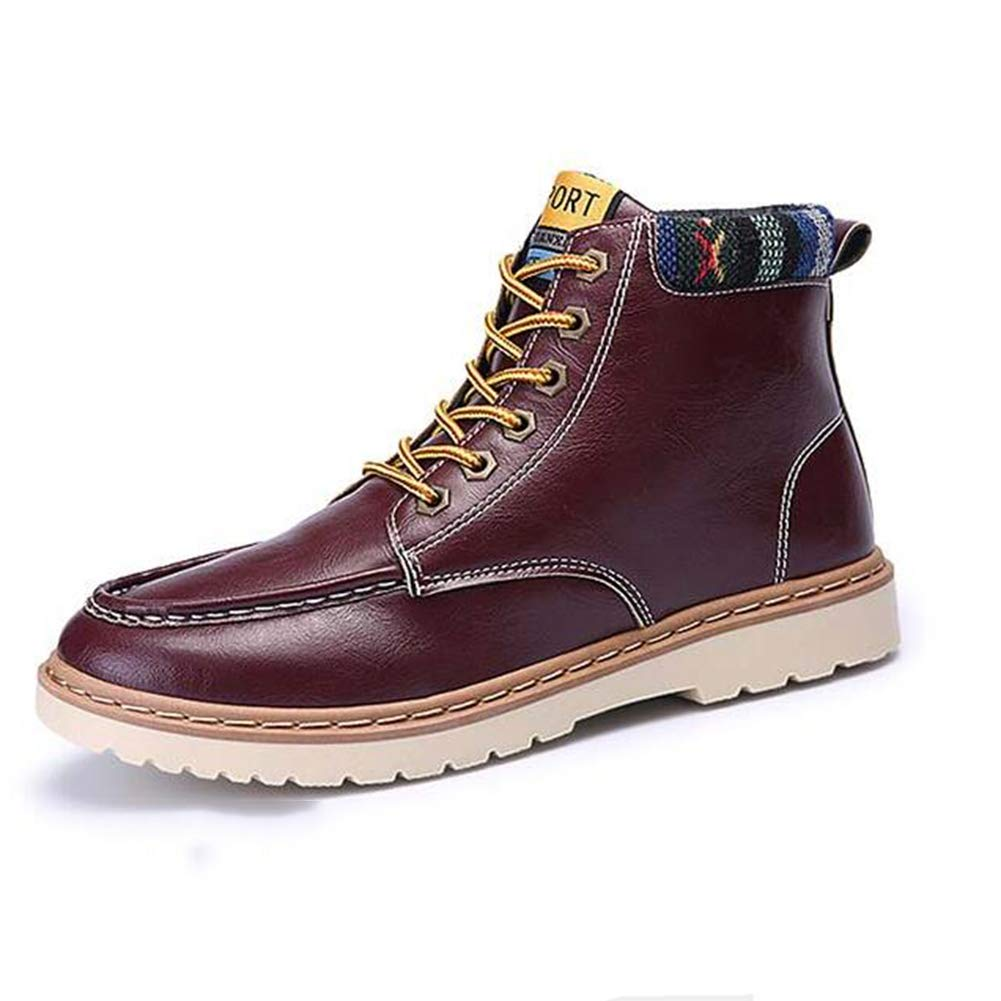 SUN Männer Martin Stiefel Knöchel Stiefel Kurze Stiefel Werkzeug Stiefel erhöhen Höhe (Farbe : ROT, größe : EU41/UK7.5-8/CN42)