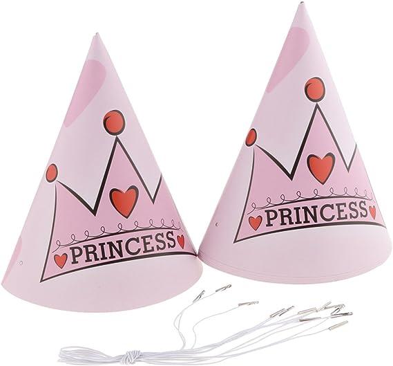 P Prettyia 90 Pi/èces Princesse Couronne Compl/ète Joyeux Anniversaire Kit D/écor F/ête Rose