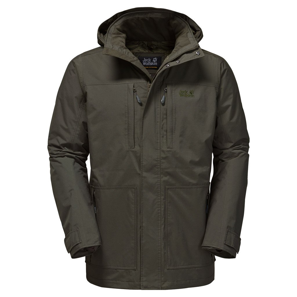 Jack Wolfskin Men's West Point Island Jacket, Peat, X-Large by Jack Wolfskin
