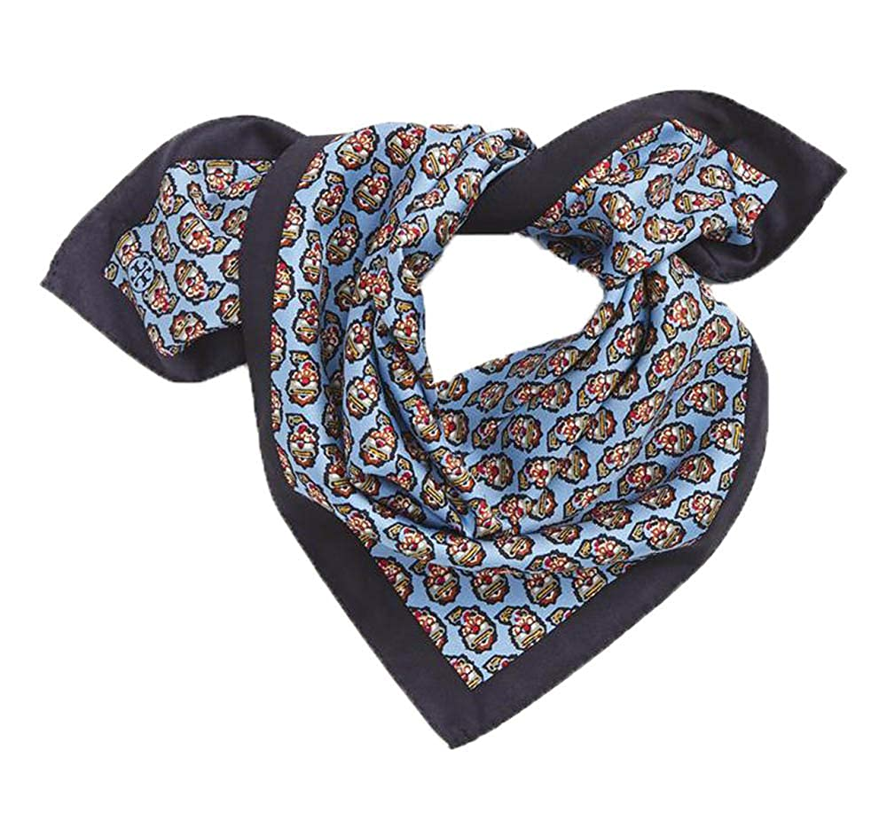 8bdade63740 Tory Burch Paisley Blue Silk Square Neck Scarf Neckerchief 18x18 at Amazon  Women s Clothing store