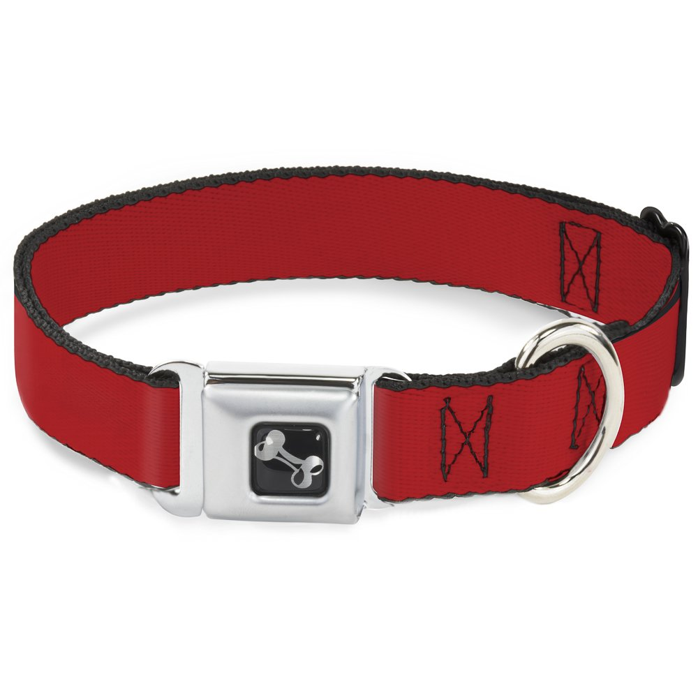 Buckle-Down Seatbelt Buckle Dog Collar Christmas Red 1.5  Wide Fits 16-23  Neck Medium