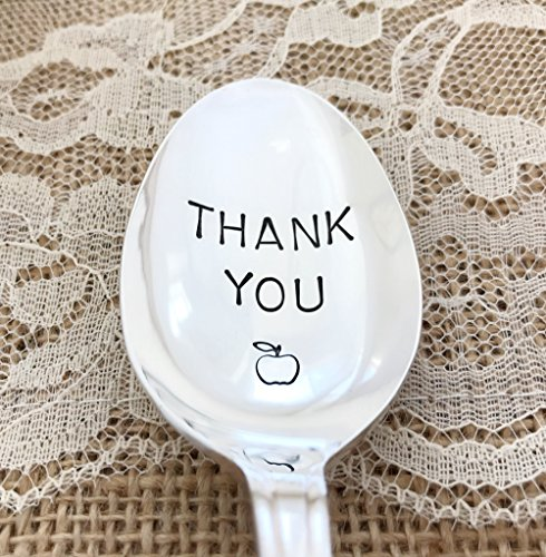 Thank you, Teacher spoon vintage hand stamped,Croydon