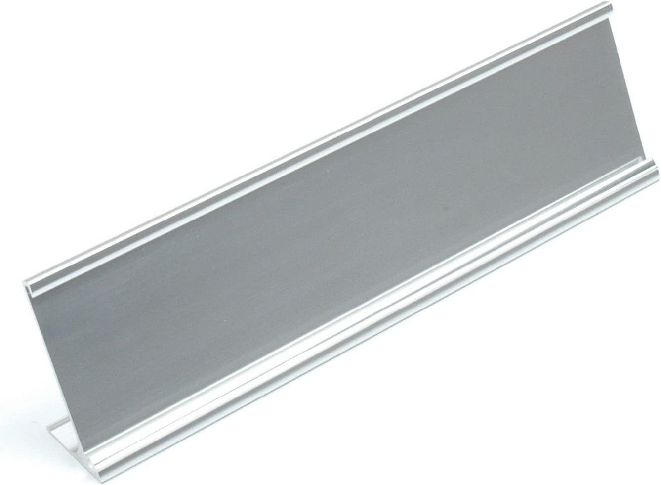 """TOP Selling Office Silver Desk Name Plate Holder ONLY 2"""" x 8"""" Size"""