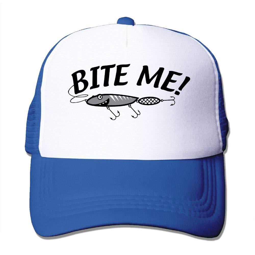 JimHappy Bite Me Fishing Baseball Hat CapAdjustable Back Mesh Cap Men Women