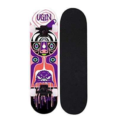 WWZL Beginner Boys and Girls Double-Twist 4-Wheel Skateboard Professional Board/80cm : Sports & Outdoors