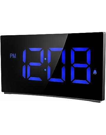 Holife Despertador Digital, [2018 Actualizado] Reloj Despertador Digital de Pantalla Curvada, con