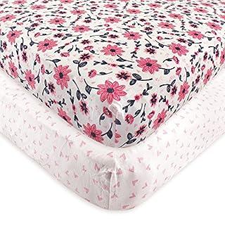 Hudson Baby Unisex Baby Cotton Fitted Crib Sheet, Botanical, One Size