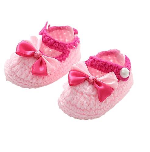 Luckygirls Baby Schuhe Mädchen Lauflernschuhe Krabbelschuhe Warm