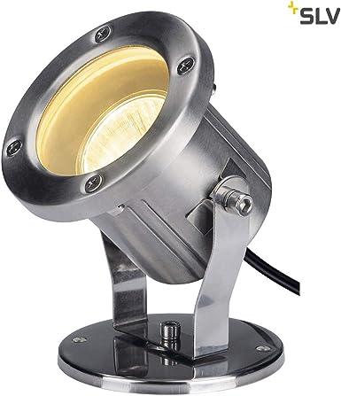 SLV Projecteur Extérieur NAUTILUS Inox 316 Couleur Argent | Câble 1,50 m | Orientable Inclinable