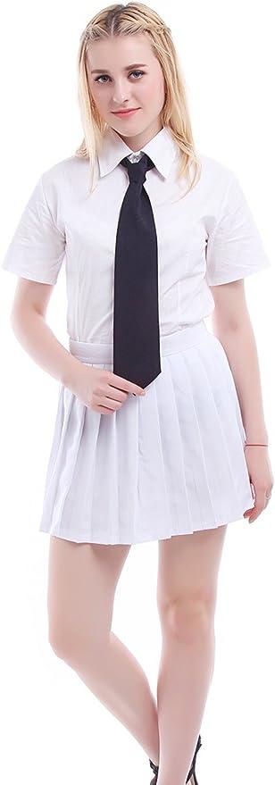 Uniforme de colegiala japonesa (incluye camisa, falda y corbata ...