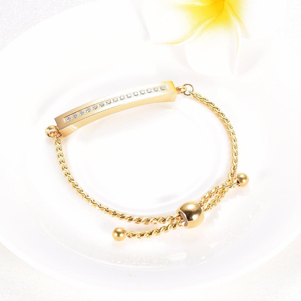 Stainless steel Crystal Golden Cremation Bracelets Memorial Ashes Holder Bangle Urn Keepsake