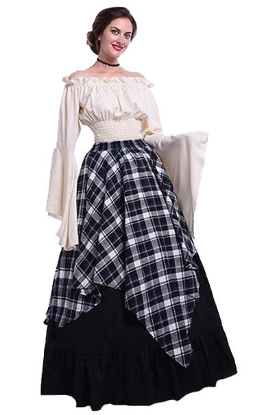 Amazon.com: Oscuro paraíso Victoriano Medieval vestido de ...