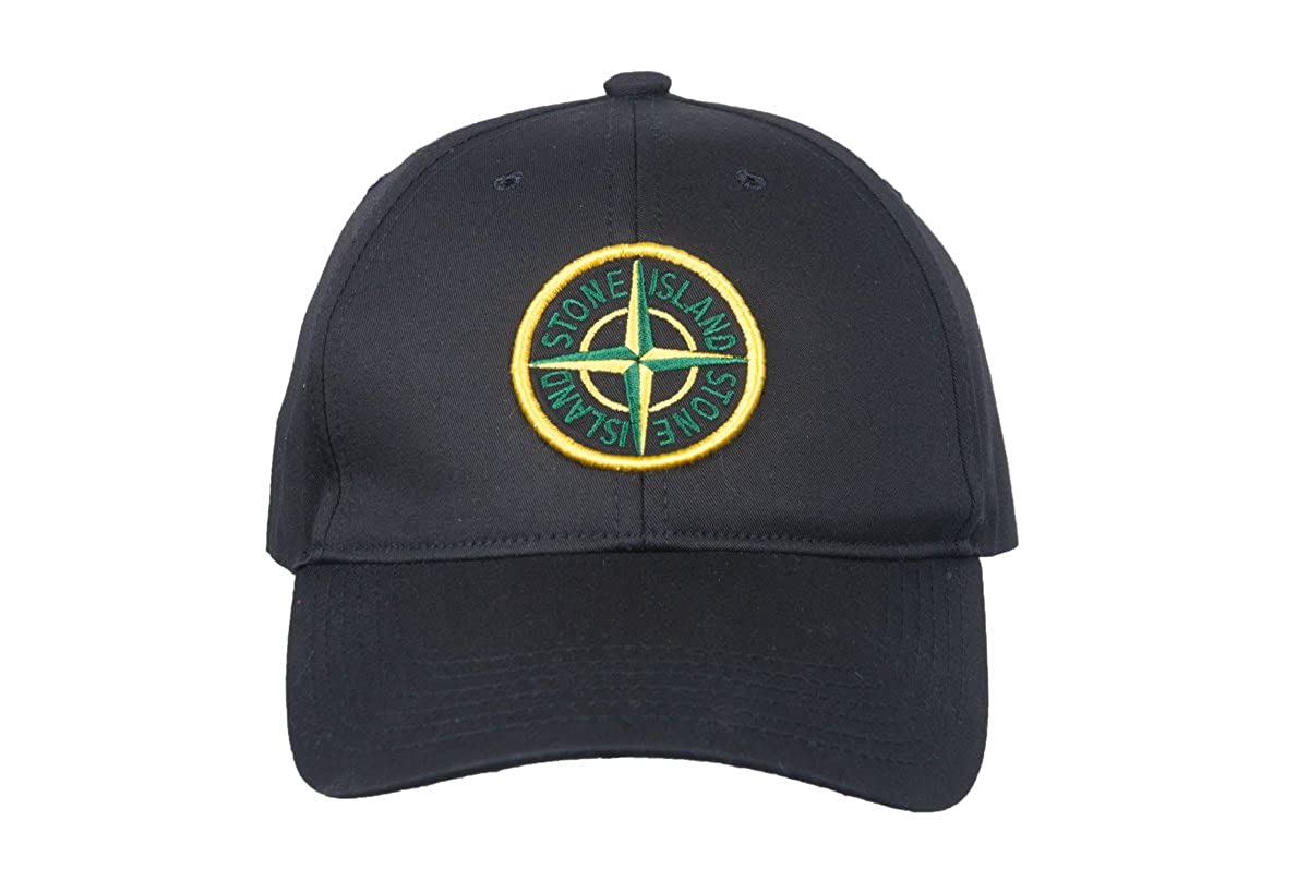 4f9c47ab9 Stone Island Soft Cotton Navi Black Green Compass Logo Men`s Baseball Cap