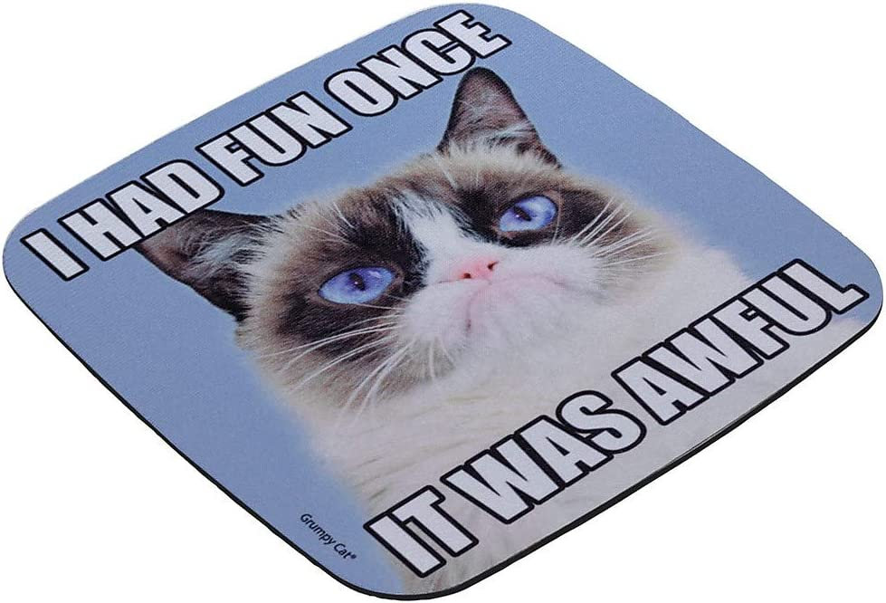 Grumpy Cat Galaxy Space Personalized Rectangle Mouse Pad
