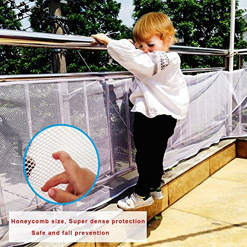 Joylish 10Ft Baby Stair Railing Safety Net - Indoor Outdoor Balcony Guard for Toddlers & Pet, Easy to Install by Joylish (Image #4)