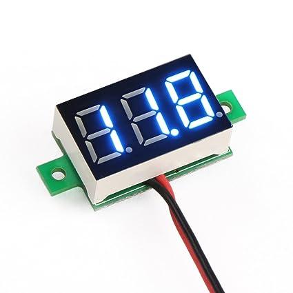 drok reg small digital dc volt panel electronics voltmeter car battery monitor voltage tester 12